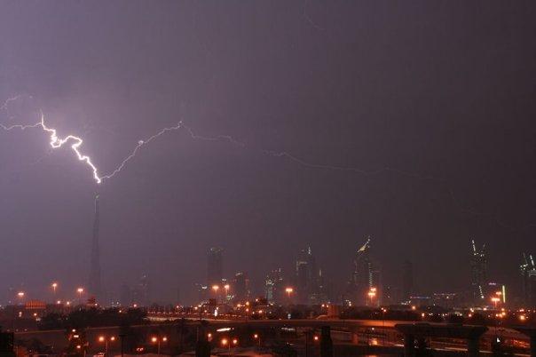 burj lightning